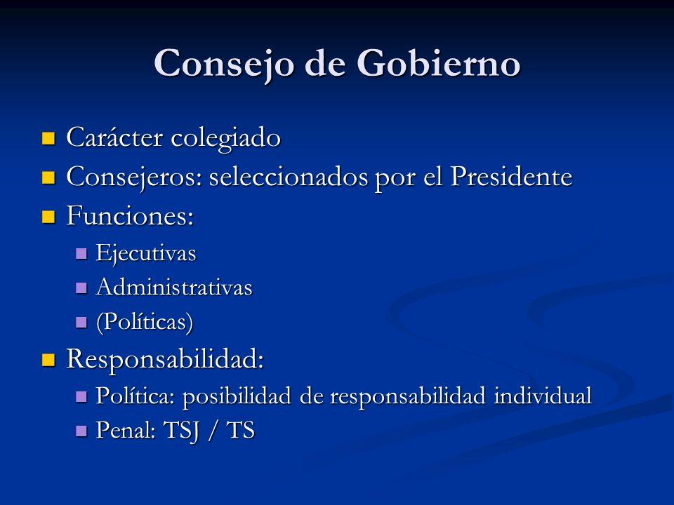 Consejo de Gobierno Carácter colegiado