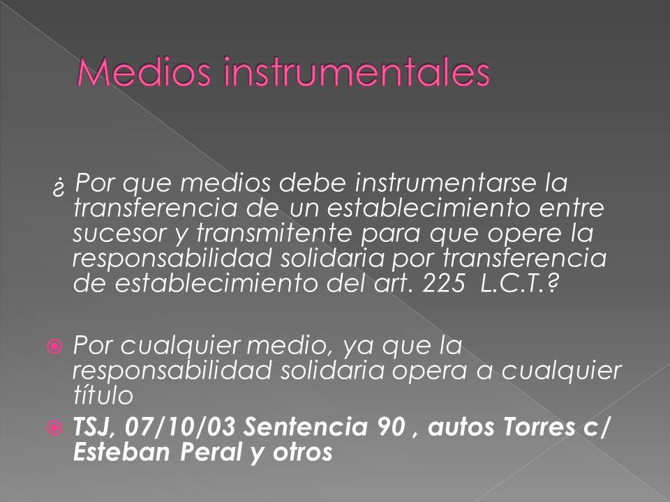 Medios instrumentales