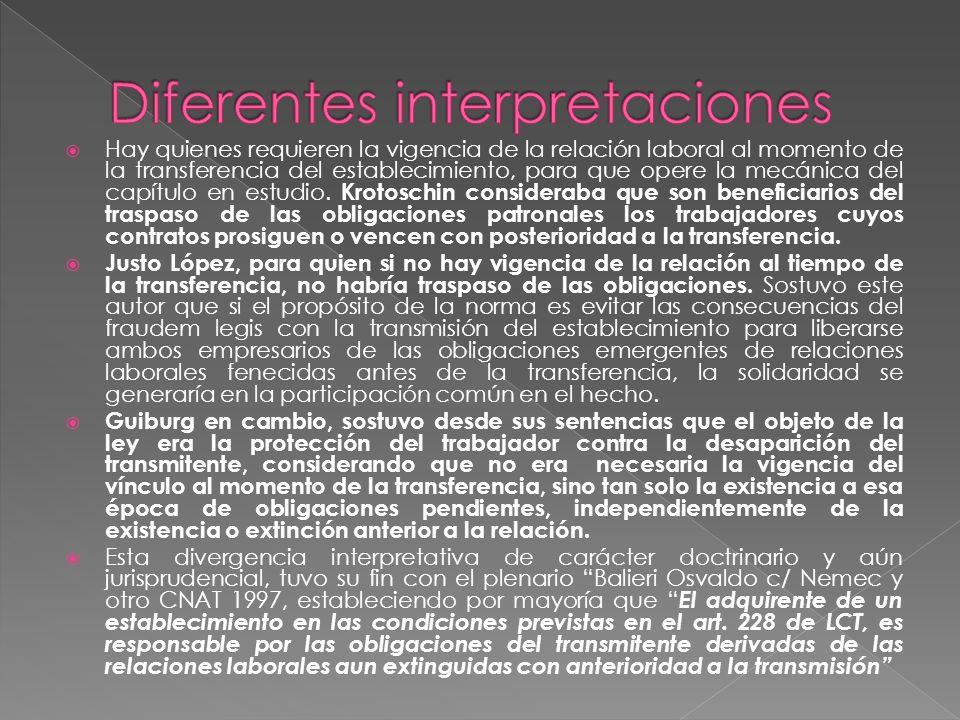 Diferentes interpretaciones