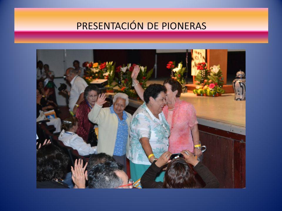 PRESENTACIÓN DE PIONERAS
