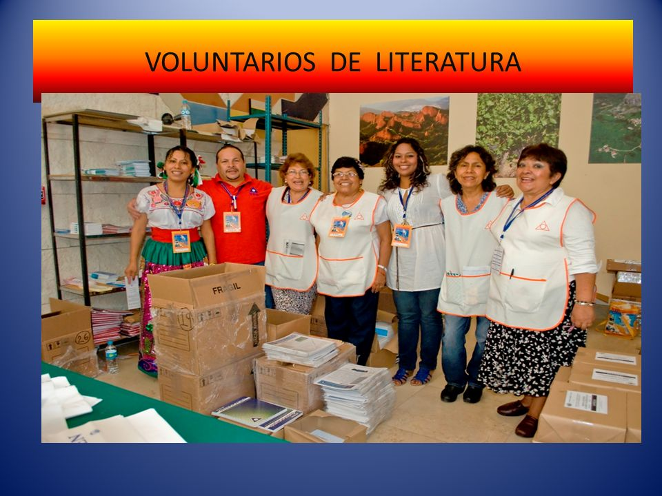 VOLUNTARIOS DE LITERATURA