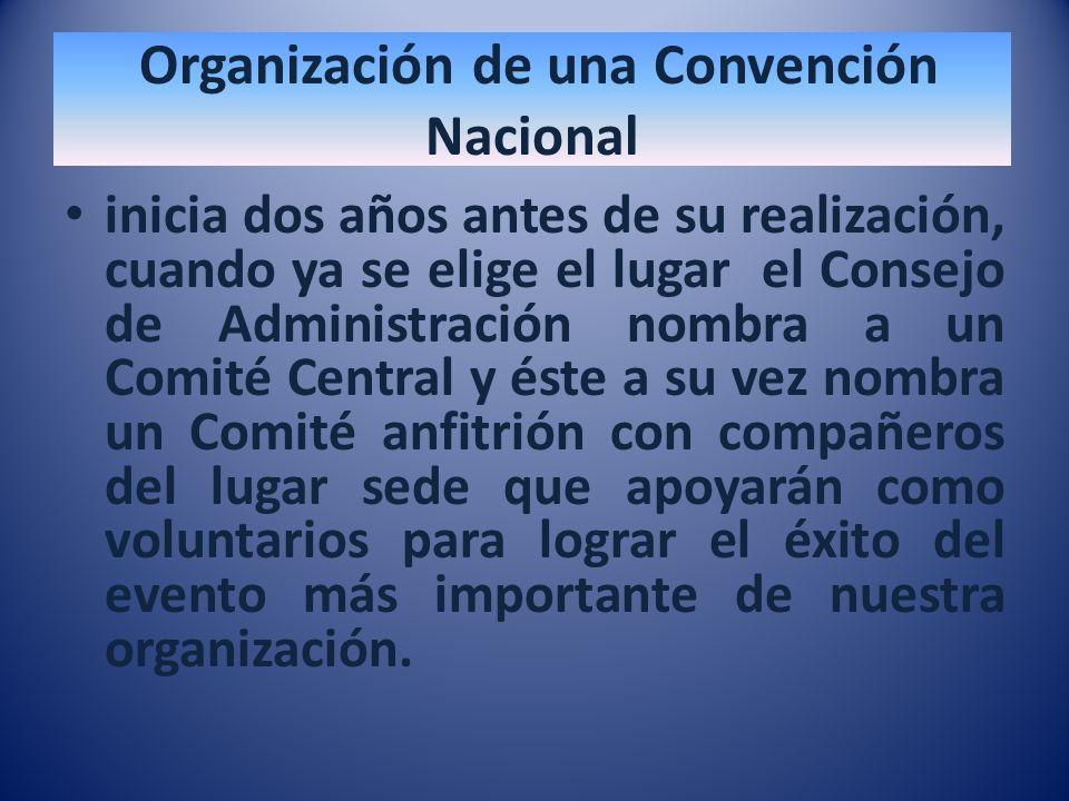 Organización de una Convención Nacional