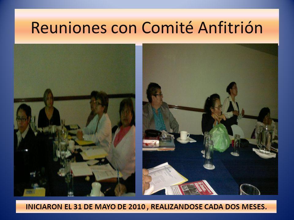Reuniones con Comité Anfitrión