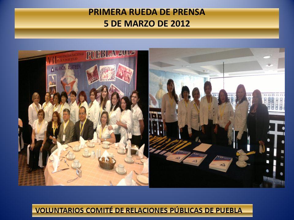 PRIMERA RUEDA DE PRENSA 5 DE MARZO DE 2012