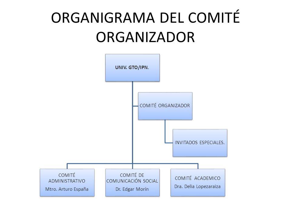 ORGANIGRAMA DEL COMITÉ ORGANIZADOR