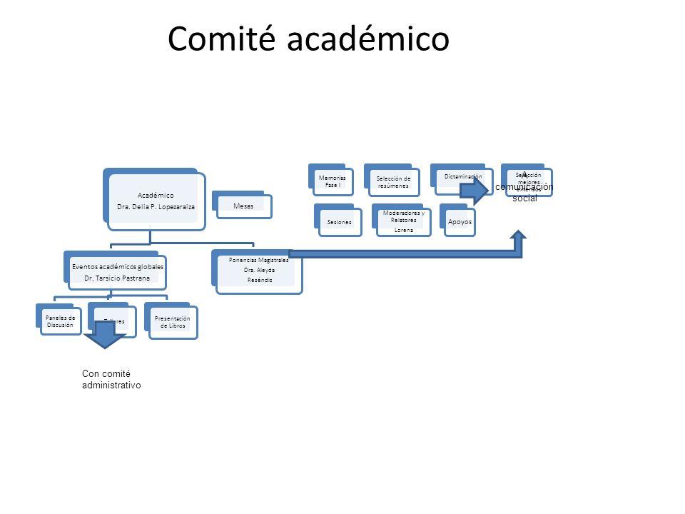 Comité académico A comunicación social Con comité administrativo