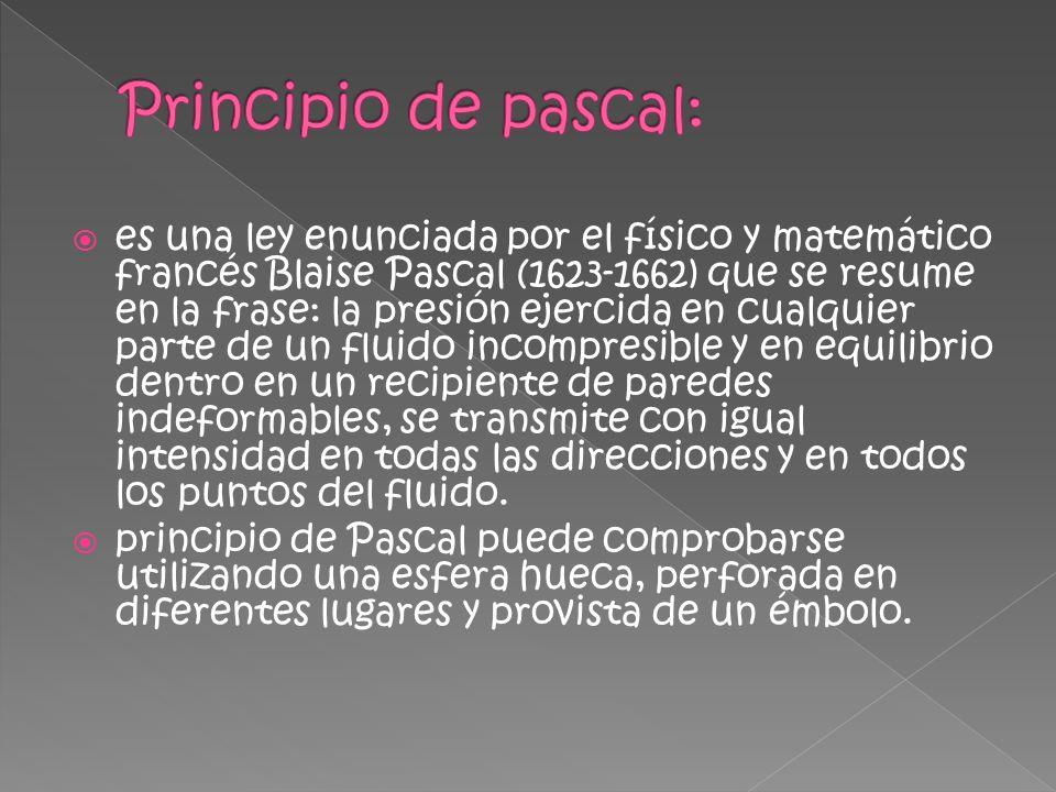 Principio de pascal: