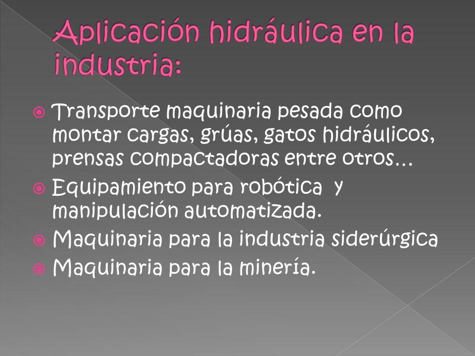 Aplicación hidráulica en la industria: