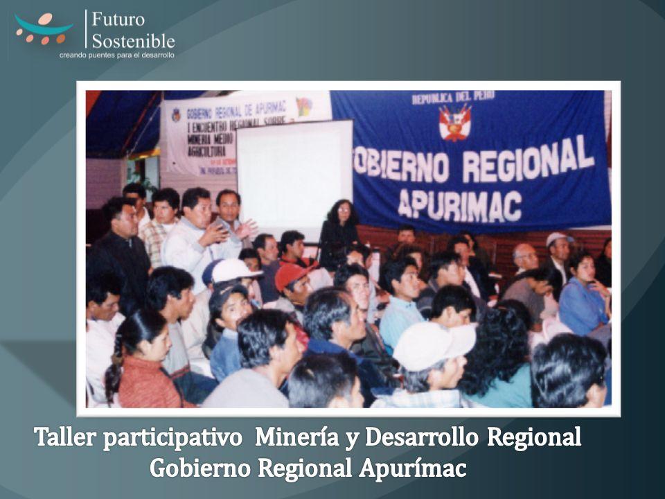 Taller participativo Minería y Desarrollo Regional