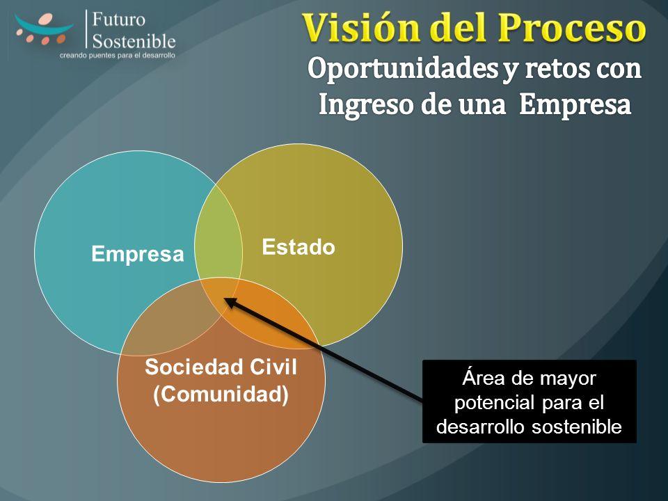Visión del Proceso Oportunidades y retos con Ingreso de una Empresa