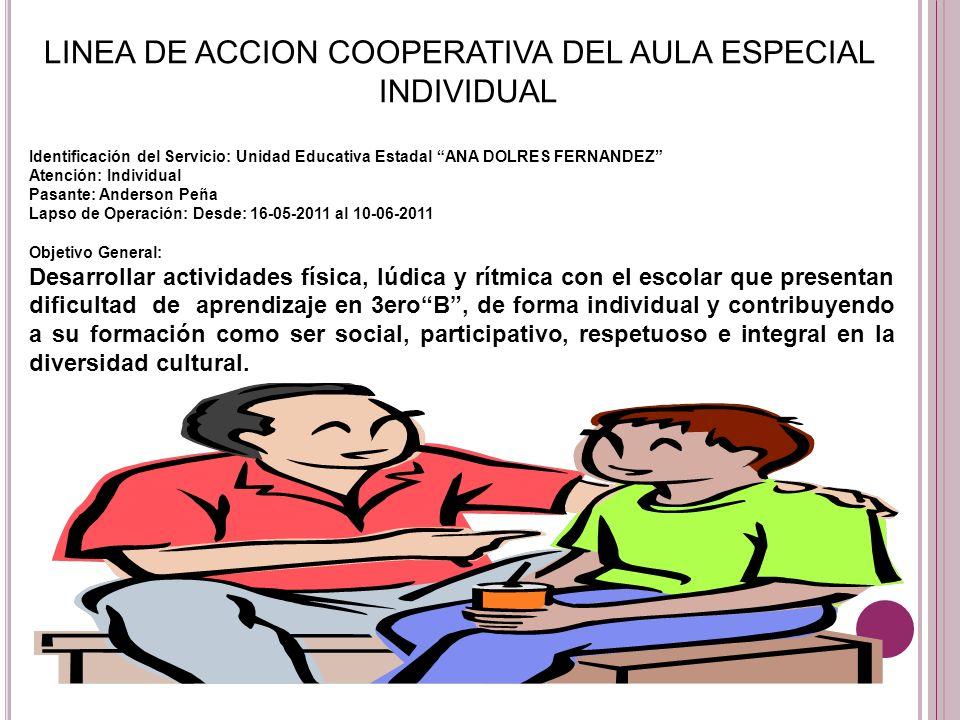 LINEA DE ACCION COOPERATIVA DEL AULA ESPECIAL INDIVIDUAL