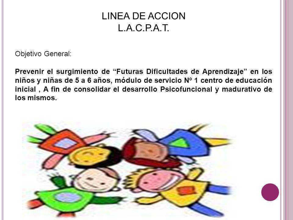 LINEA DE ACCION L.A.C.P.A.T. Objetivo General: