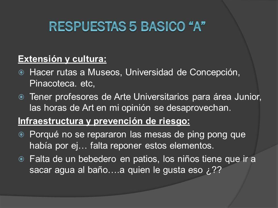 RESPUESTAS 5 BASICO A Extensión y cultura: