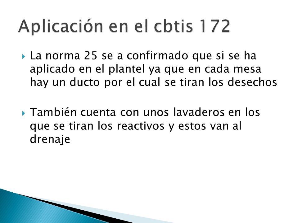 Aplicación en el cbtis 172