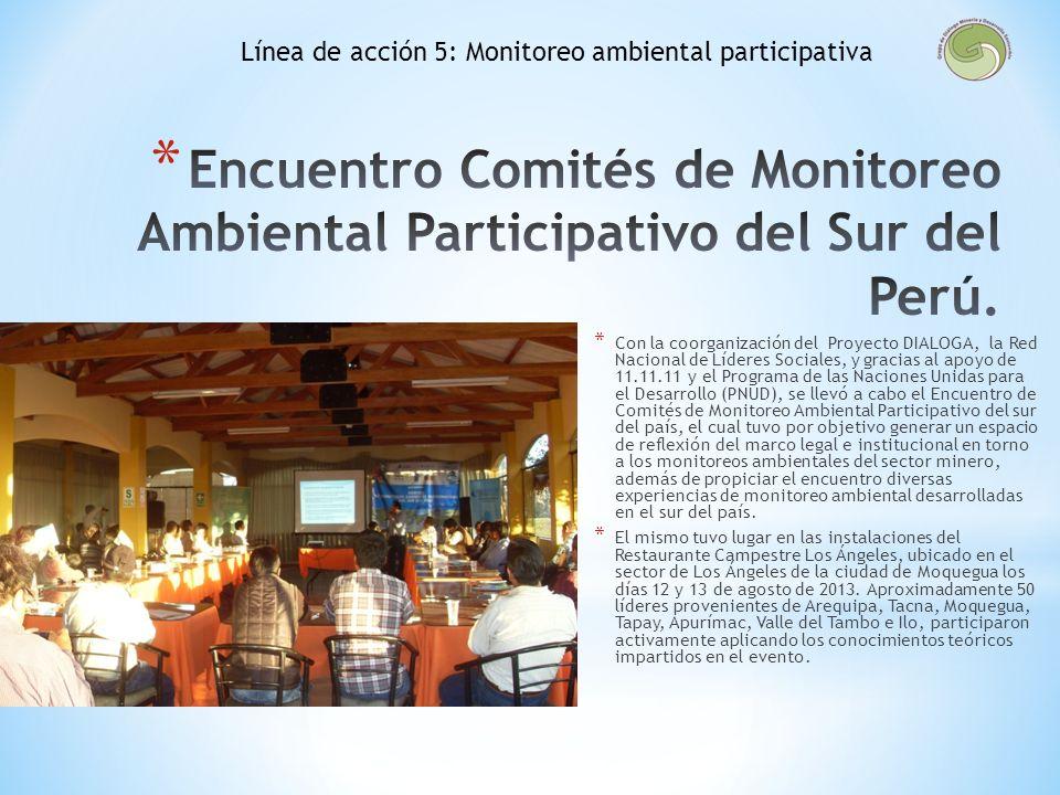 Línea de acción 5: Monitoreo ambiental participativa