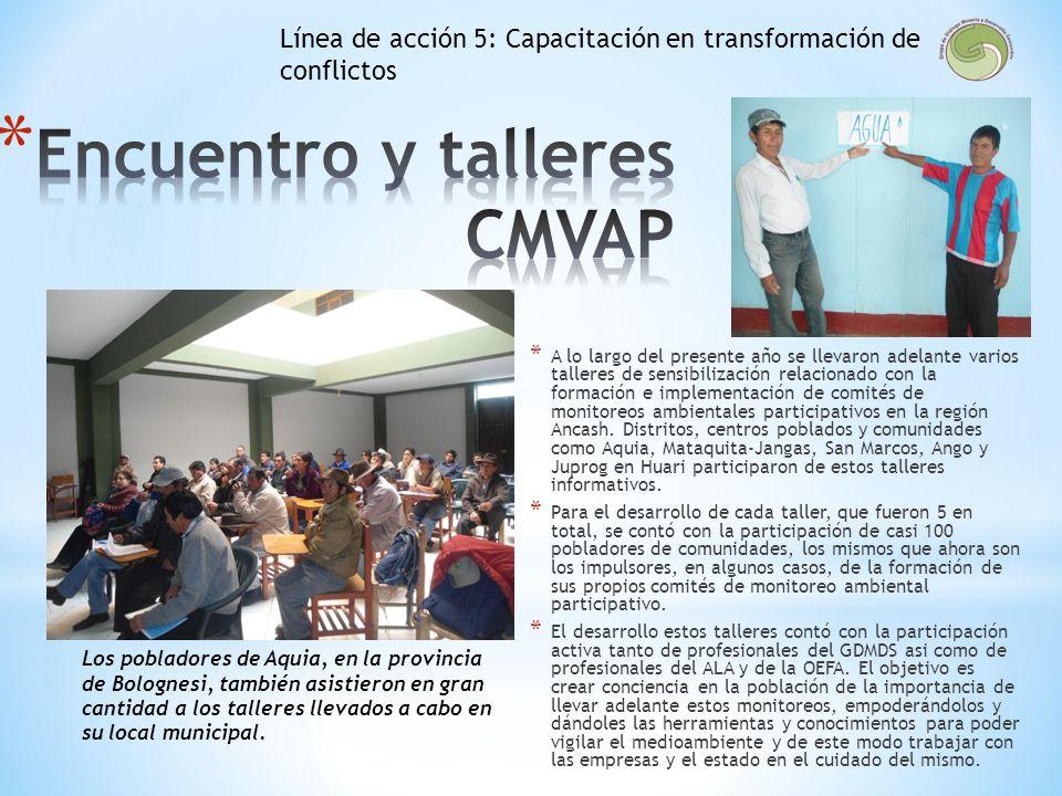 Encuentro y talleres CMVAP