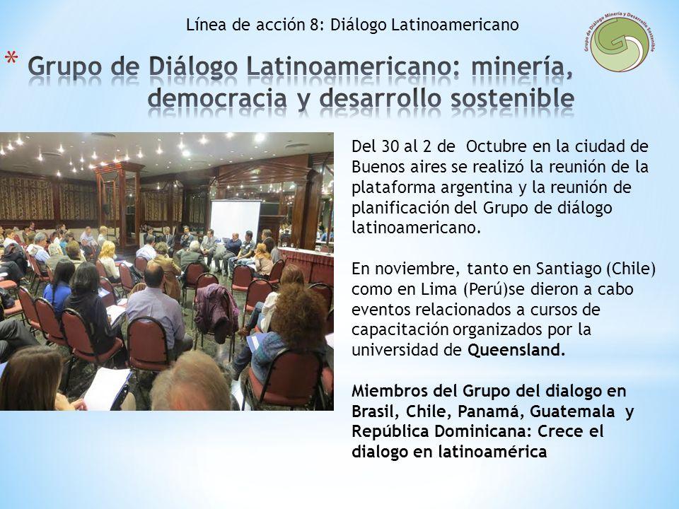 Línea de acción 8: Diálogo Latinoamericano