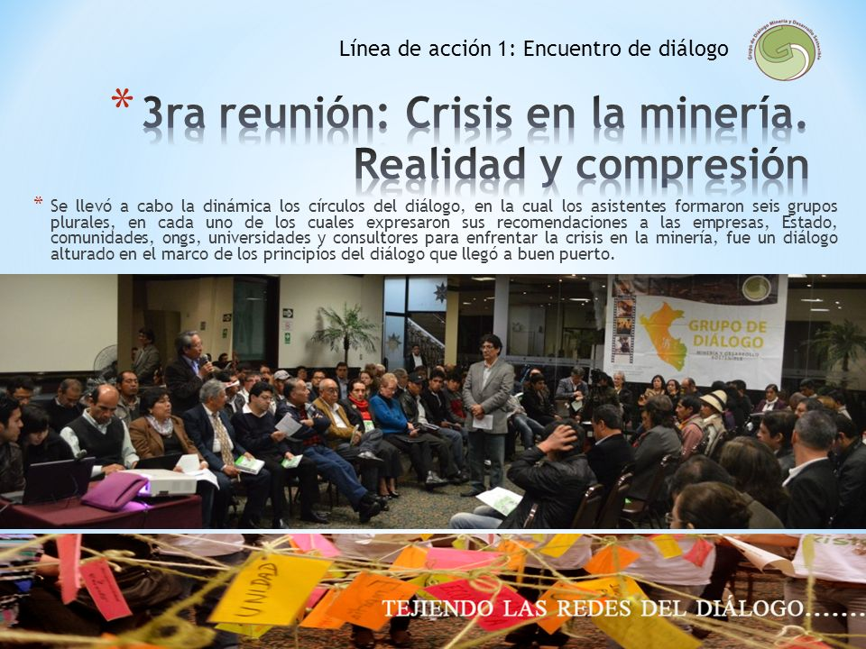 3ra reunión: Crisis en la minería. Realidad y compresión