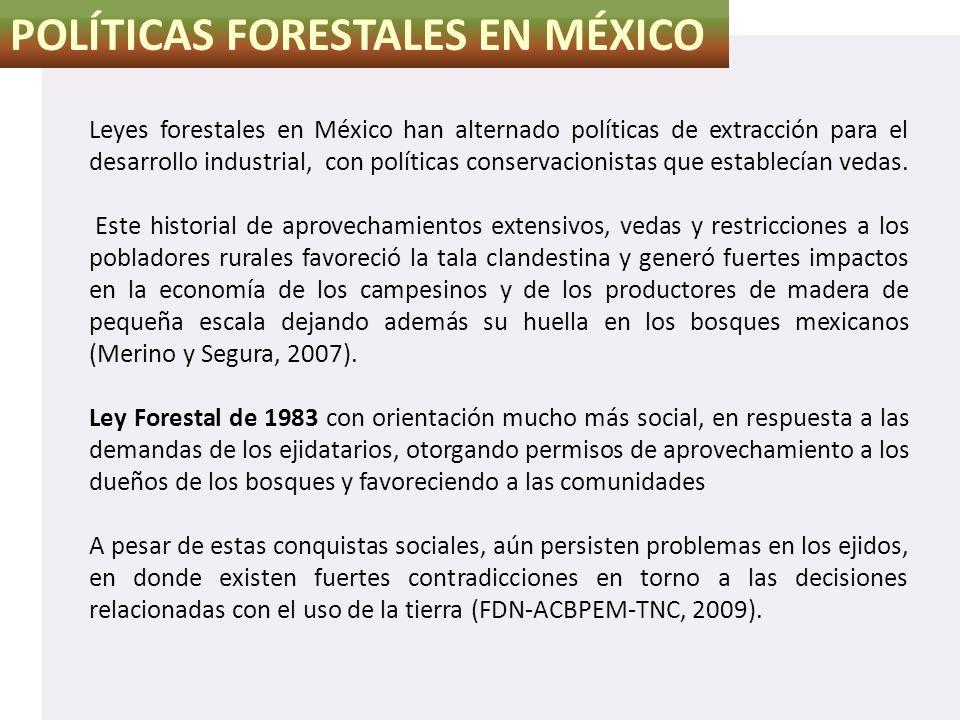 POLÍTICAS FORESTALES EN MÉXICO