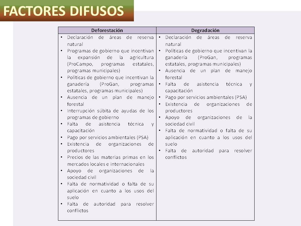 FACTORES DIFUSOS Caza ilegal (provocan incendios)