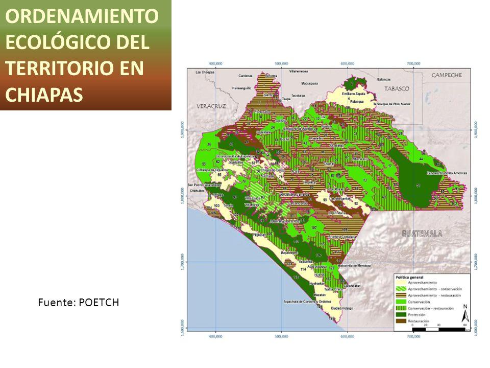 ORDENAMIENTO ECOLÓGICO DEL TERRITORIO EN CHIAPAS