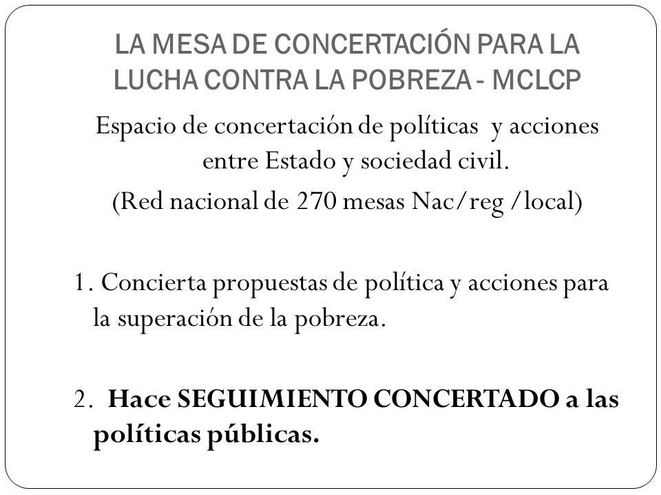 LA MESA DE CONCERTACIÓN PARA LA LUCHA CONTRA LA POBREZA - MCLCP
