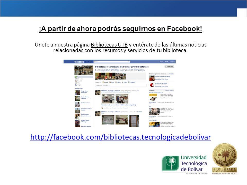 ¡A partir de ahora podrás seguirnos en Facebook