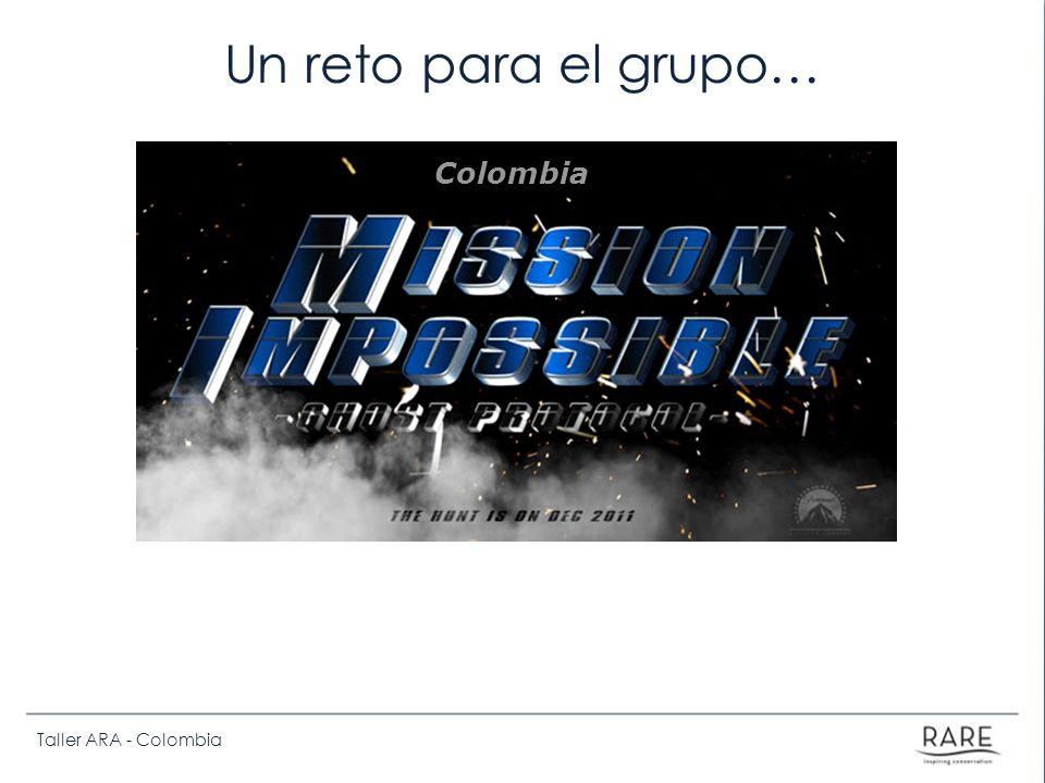 Un reto para el grupo… Colombia