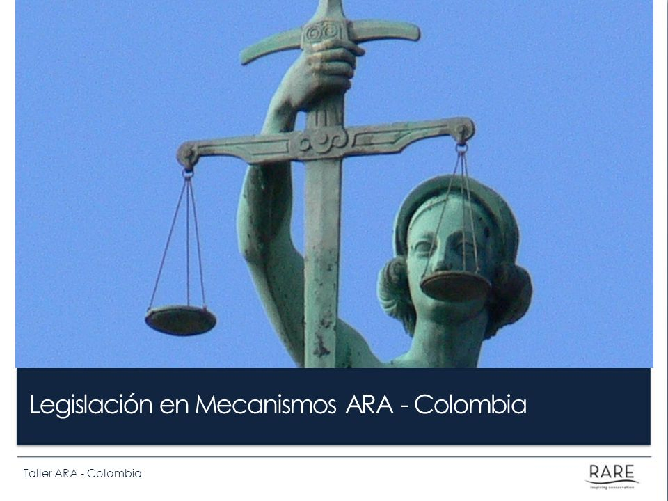 Legislación en Mecanismos ARA - Colombia
