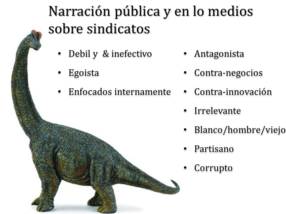 Narración pública y en lo medios sobre sindicatos