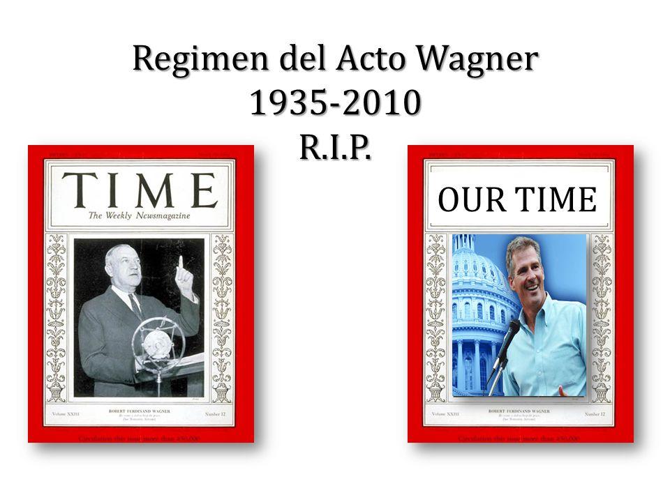 Regimen del Acto Wagner 1935-2010 R.I.P.