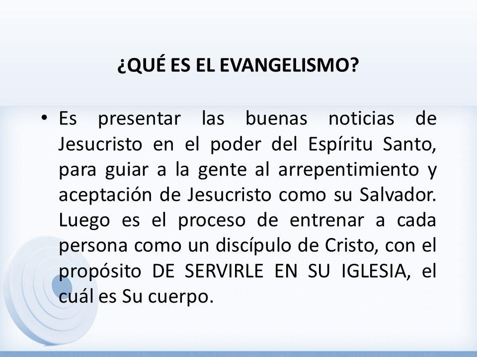 ¿QUÉ ES EL EVANGELISMO