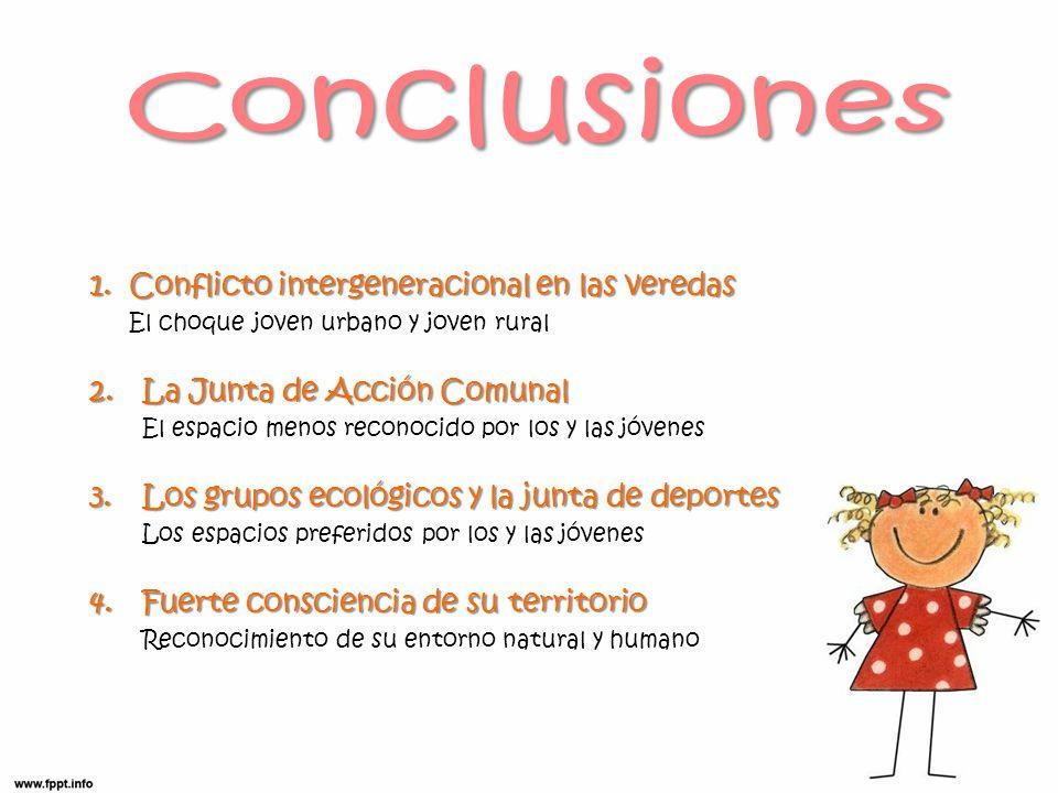 Conclusiones Conflicto intergeneracional en las veredas