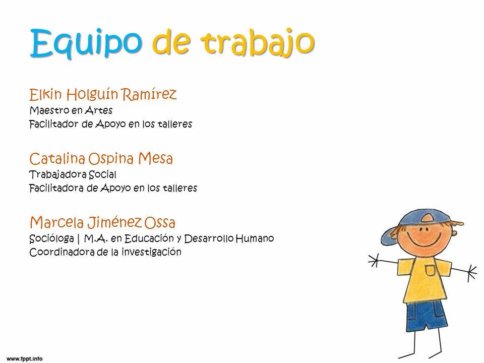 Equipo de trabajo Elkin Holguín Ramírez Catalina Ospina Mesa