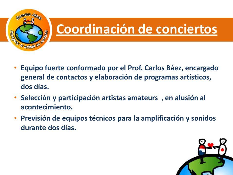 Coordinación de conciertos