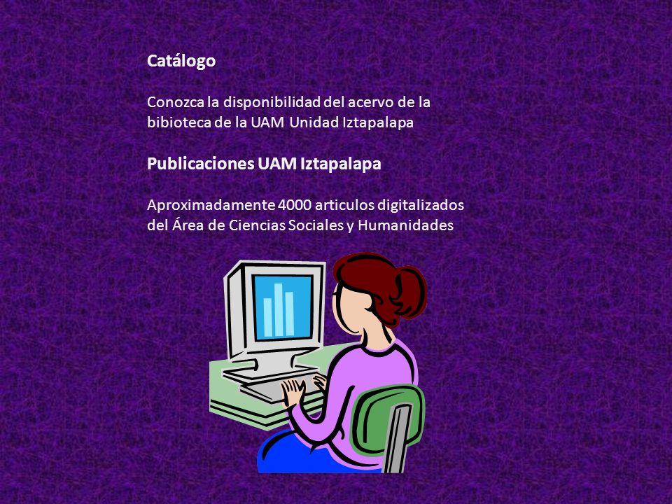 Publicaciones UAM Iztapalapa
