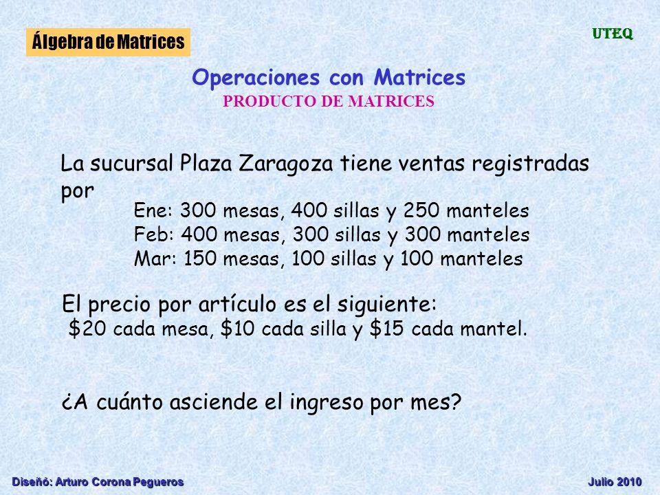 Operaciones con Matrices