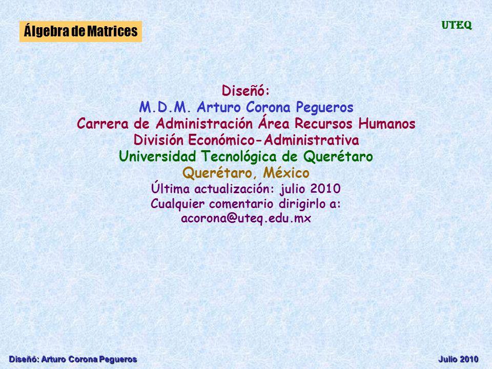 M.D.M. Arturo Corona Pegueros