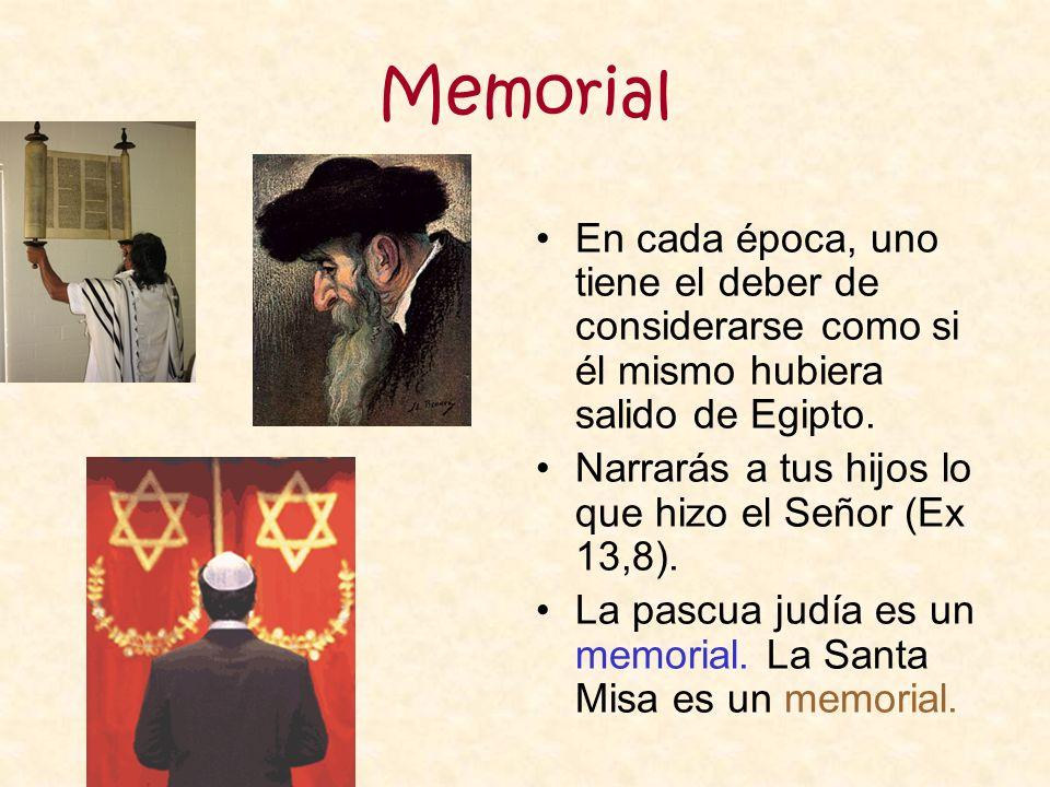 Memorial En cada época, uno tiene el deber de considerarse como si él mismo hubiera salido de Egipto.
