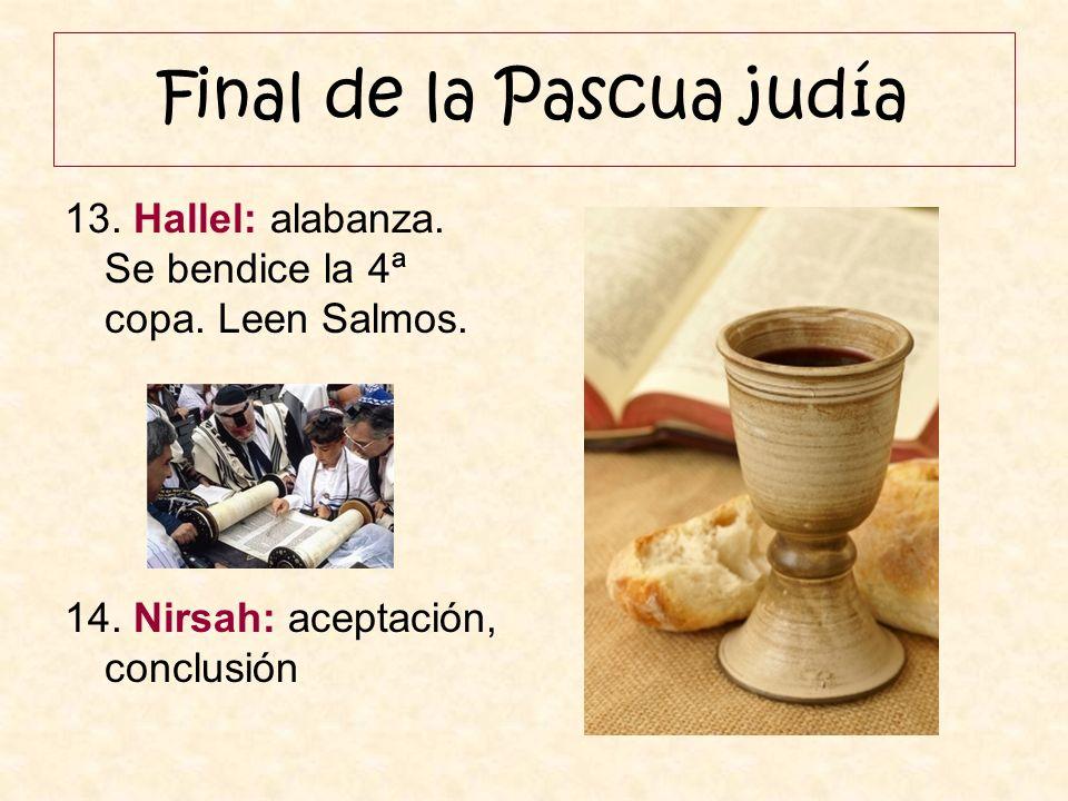 Final de la Pascua judía