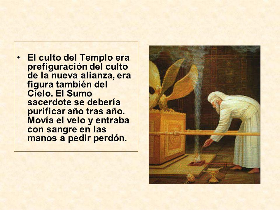 El culto del Templo era prefiguración del culto de la nueva alianza, era figura también del Cielo.
