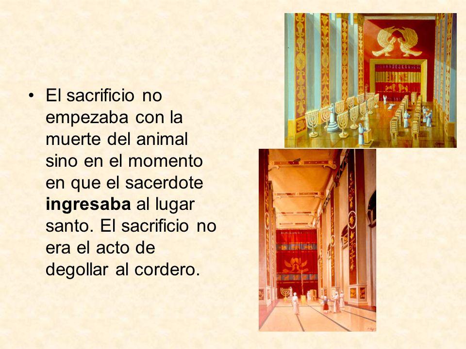 El sacrificio no empezaba con la muerte del animal sino en el momento en que el sacerdote ingresaba al lugar santo.