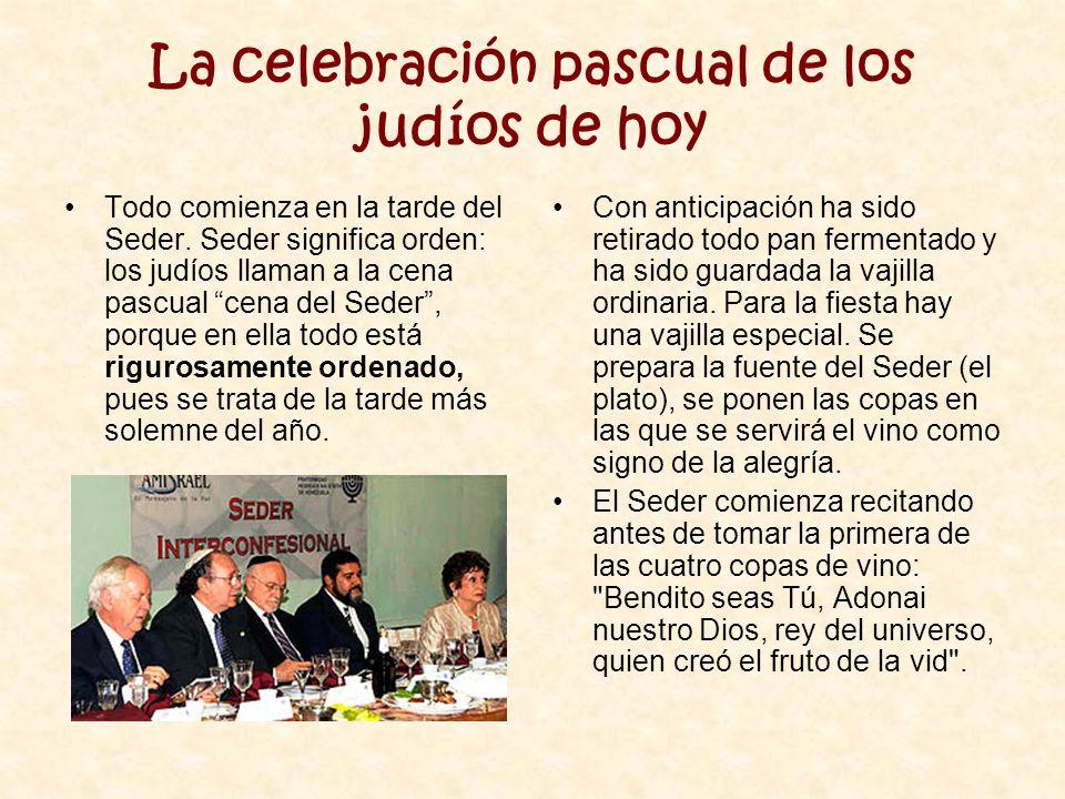 La celebración pascual de los judíos de hoy