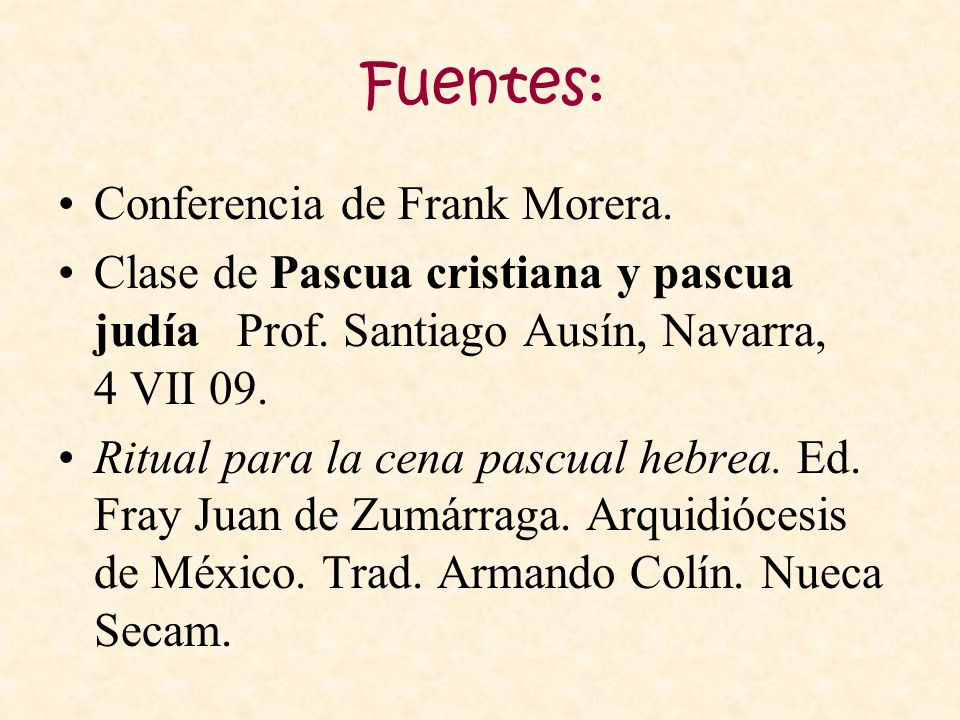 Fuentes: Conferencia de Frank Morera.