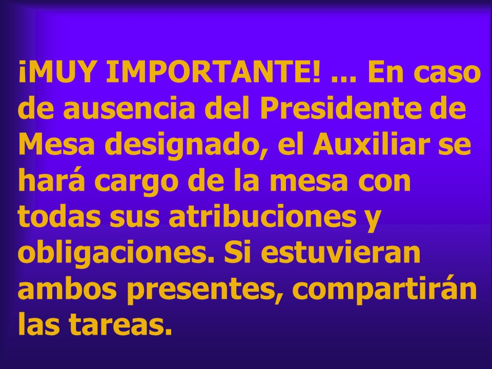¡MUY IMPORTANTE. ...