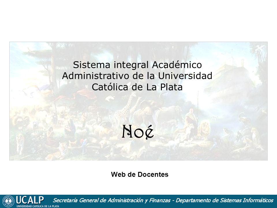 Sistema integral Académico Administrativo de la Universidad Católica de La Plata