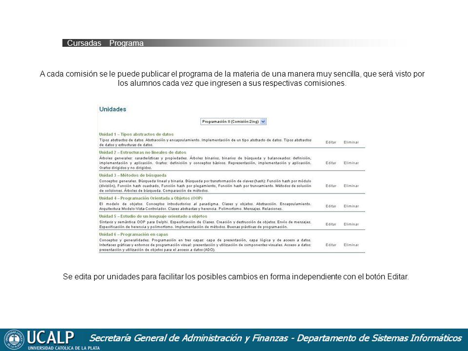 Cursadas _ Programa
