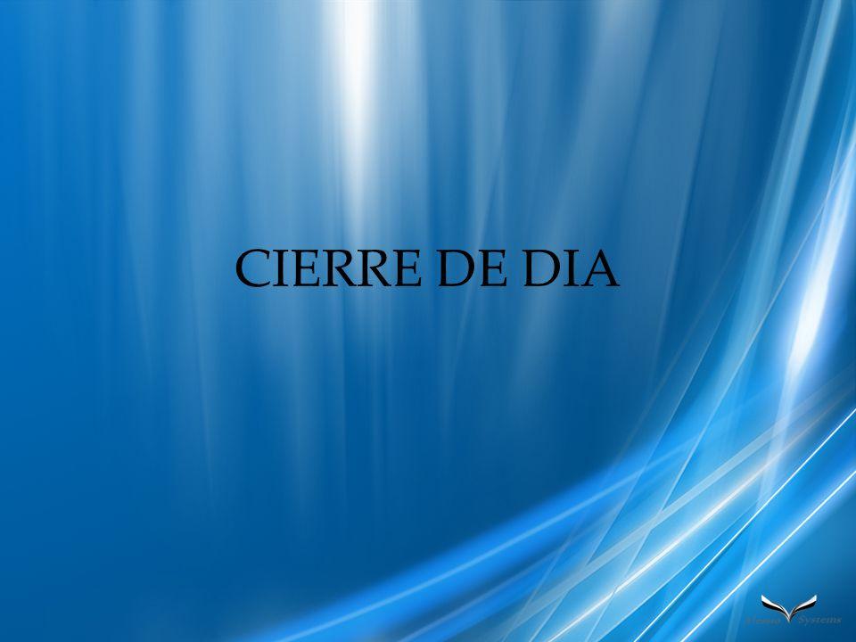CIERRE DE DIA