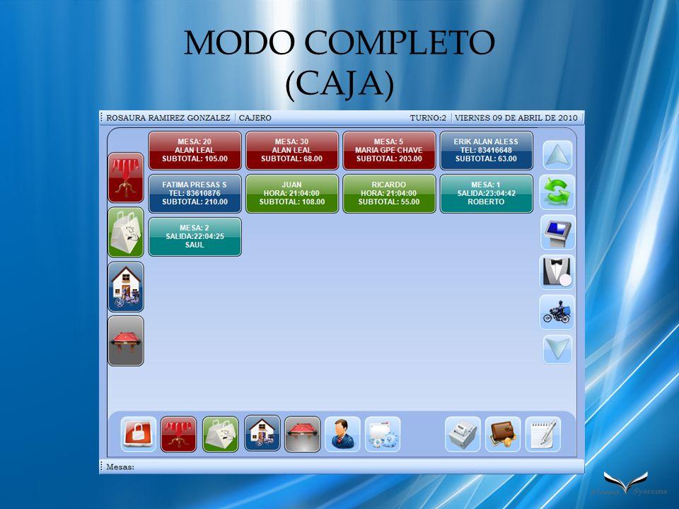 MODO COMPLETO (CAJA)