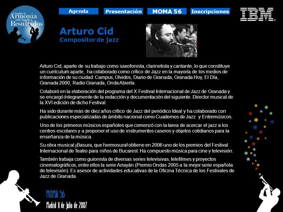 Arturo Cid MOMA 56 Compositor de jazz Presentación Inscripciones